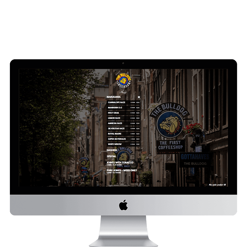 the bulldog amsterdam html css website