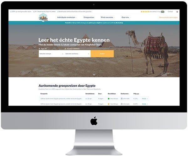 webdesign Bergen op Zoom Kingfisher Tours - Internetbureau Jun-E-Jay