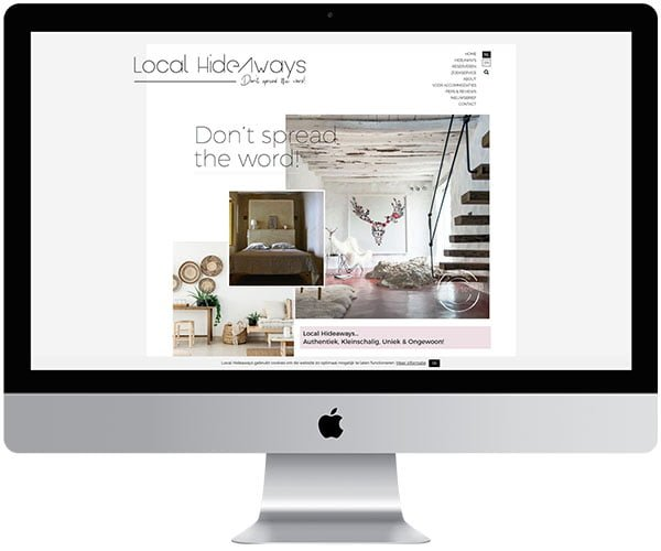 website laten maken Local Hideaways - Internetbureau Jun-E-Jay