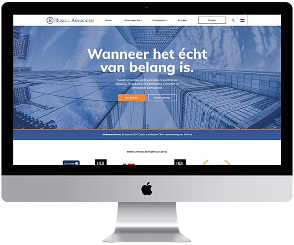 webdesign LeidschendamRussell Advocaten - Internetbureau Jun-E-Jay