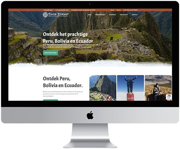 webdesign Zoetermeer Tura Travel - Internetbureau Jun-E-Jay